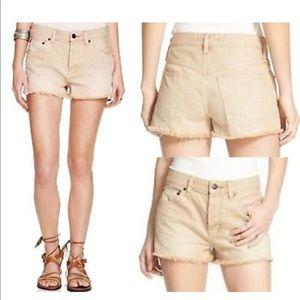 NEW Free People Uptown Cut Off Denim Jean Shorts